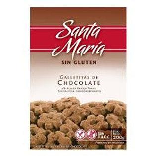 GALLETITAS SABOR CHOCOLATE SANTA MARIA