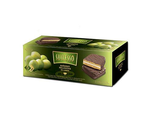 Galletita Rellenas De Limon Bañada En Chocolate