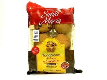 MAGDALENAS SABOR CHOCOLATE CON CHIPS