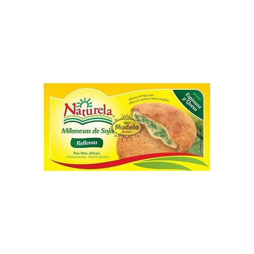Milanesa De Soja Con Espinaca Y Queso