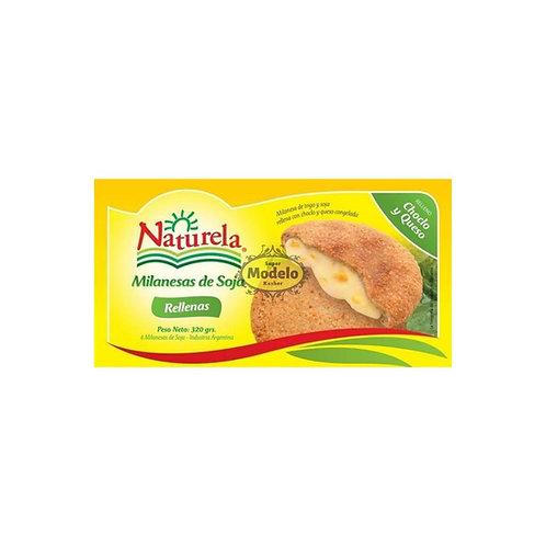 Milanesa De Soja Rellena De Choclo Y Queso