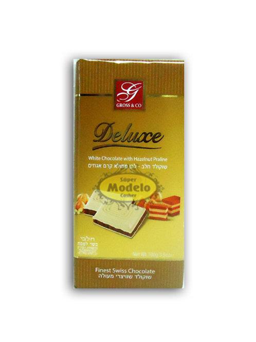 CHOCOLATE DELUXE BLANCO RELLENO DE AVELLANAS