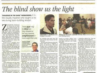 The blind show us the light
