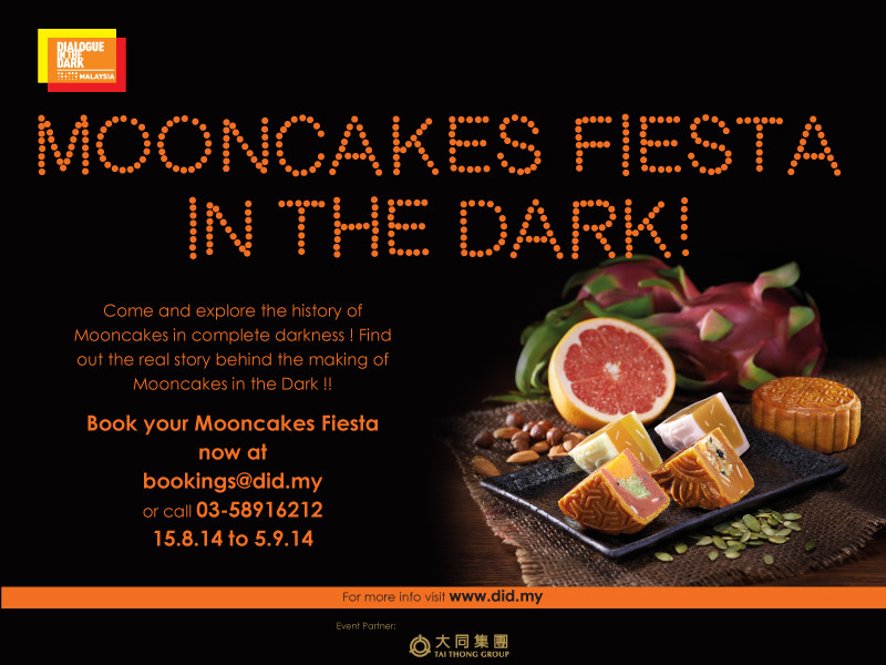 Come and explore the history of mooncakes in complete darkness. Find out the real story behind the making of mooncakes. In the dark.