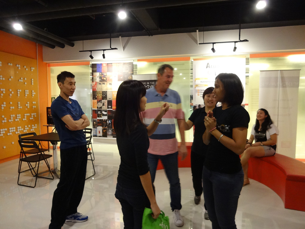 Members of Badminton Association Malaysia (BAM) in discussion, Lee Chong Wei on the left