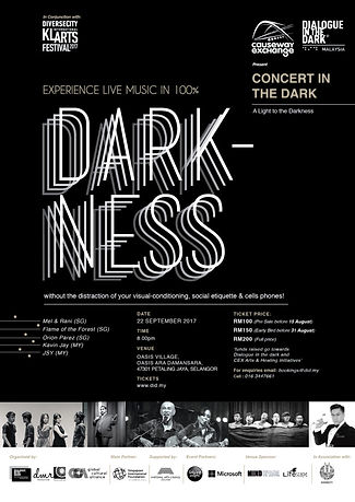 Experience Live Music in 100% Darkness
