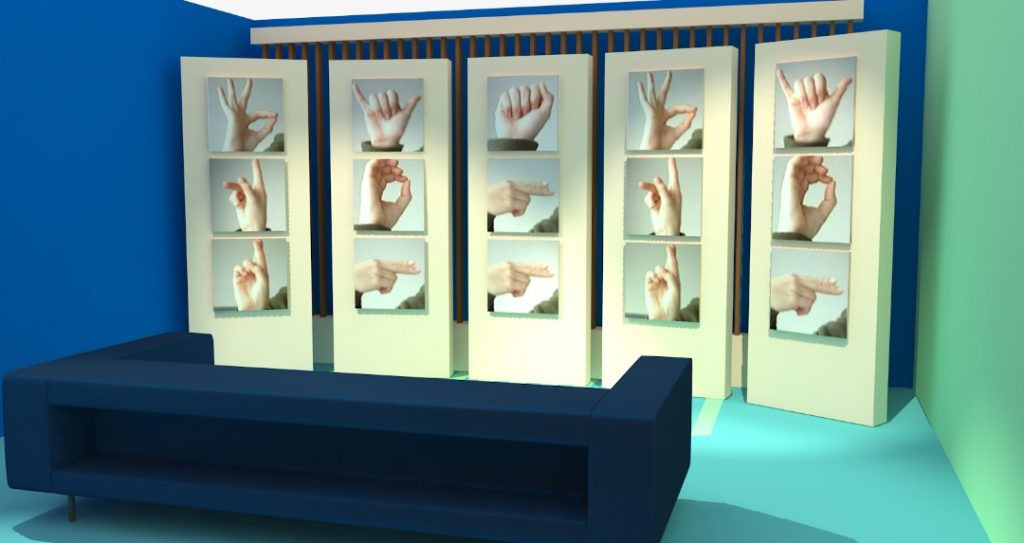 DiS Sign Language wall