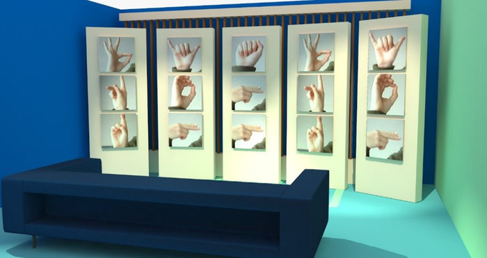 DiS Sign Language wall