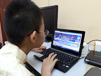 A student utilising Sasbadi's i-Learn Ace online education platform, which Learning Includes operates on