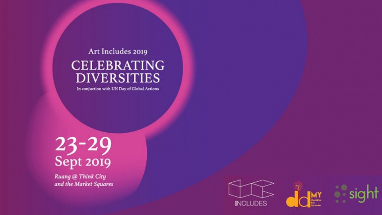 Event poster, celebrating diversities at Ruang @ Think City and the Market Squares from 23 to 20 September 2019