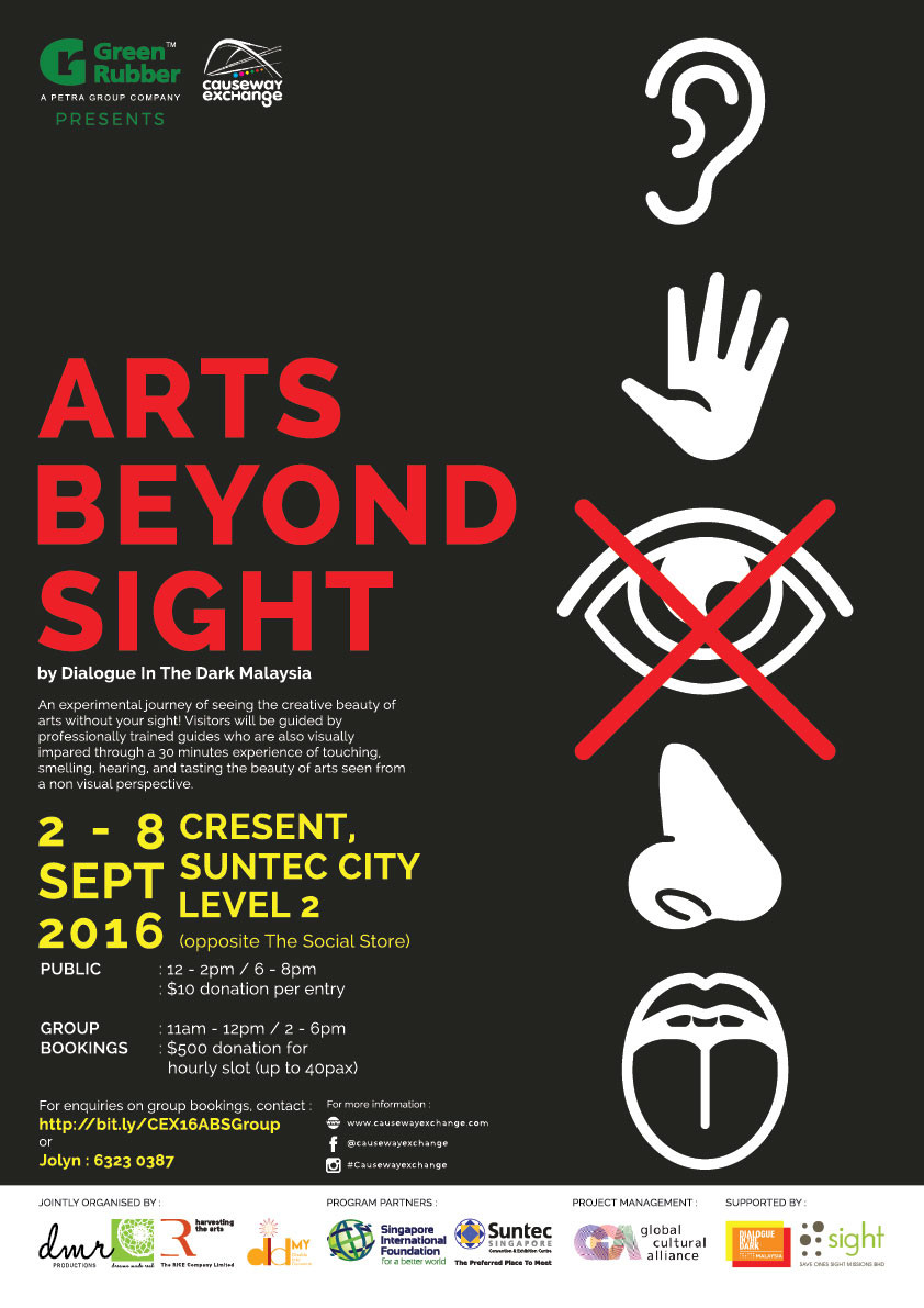 Arts Beyond Sight singapore event poster