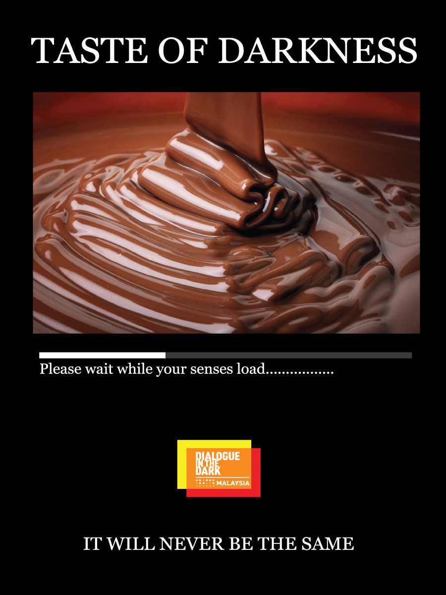 Poster that says Please wait while your senses load.... it will never be the same.