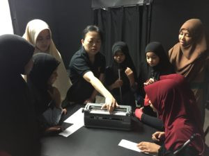 Learning Braille, part of the experience
