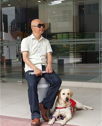 LaShawn, Guide Dog with Stevens