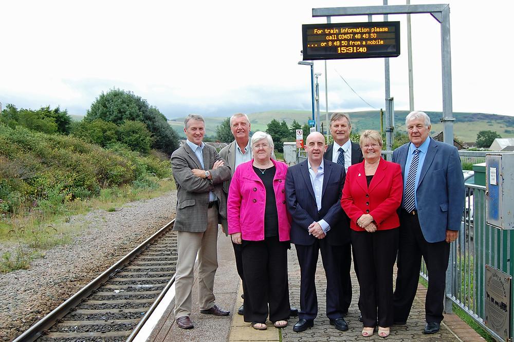 MP, AM & Councillors at Maesteg Station