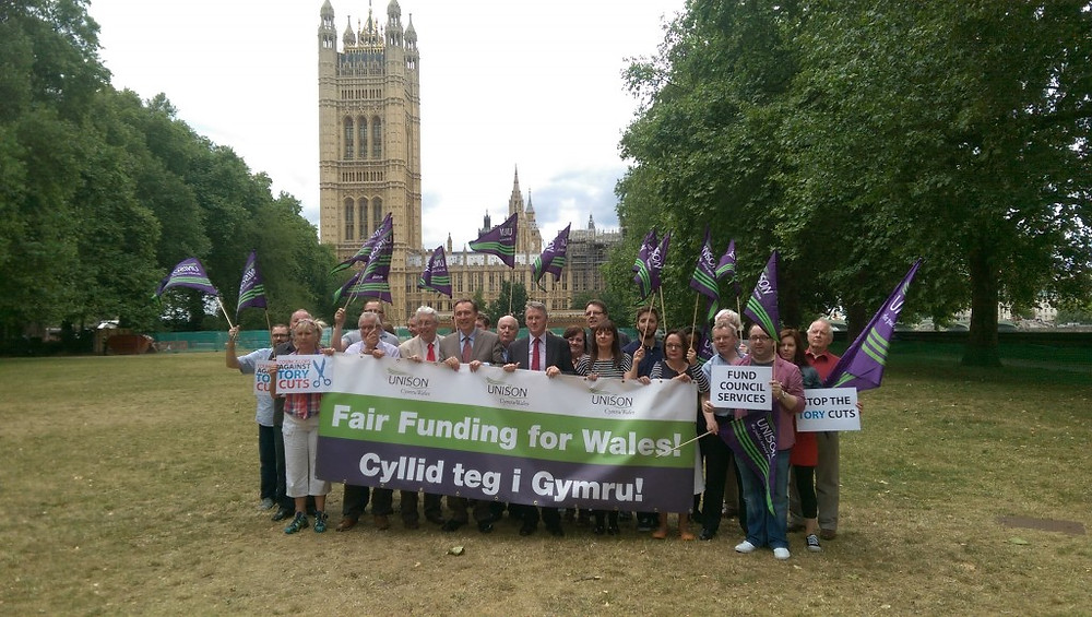 Huw I-D - Fair Funding for Wales lobby