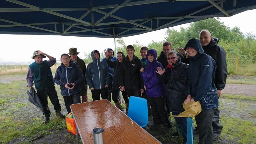 Community Woodlanders under tent