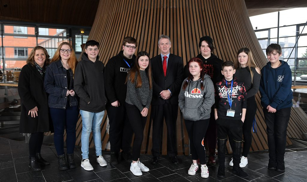 Cardiff University Schools visit to the Senedd in Cardiff bay © WALES NEWS SERVICE