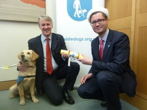 Huw thanked by Guide Dogs