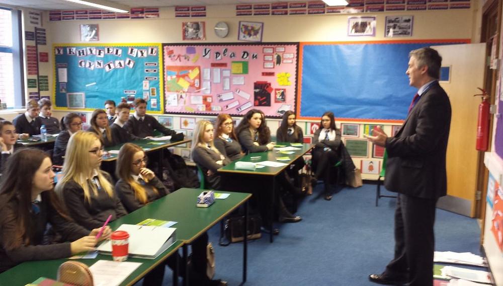Llangynwyd School visit Baccalaureate workshop