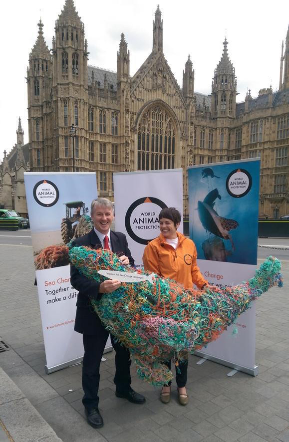Huw Irranca-Davies MP at the Sea Change photo call at Westminster
