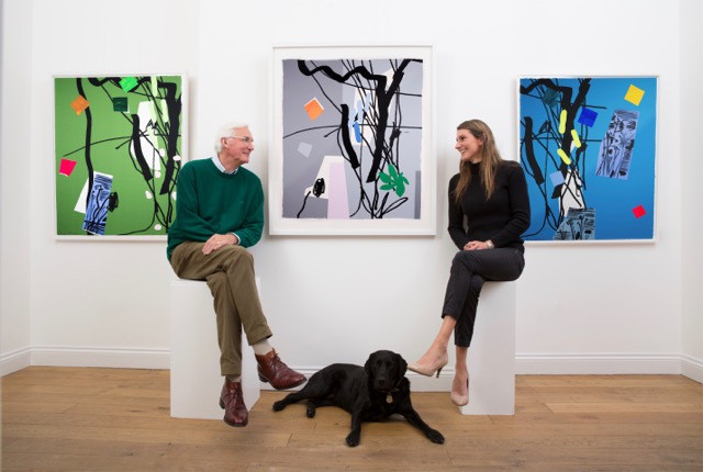 Anthony, Eleanor and Tweed with Bruce McLean