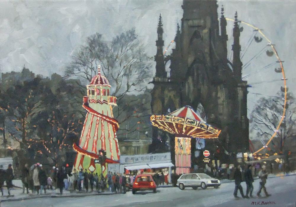 Malcolm Barton, 'Winter Fair, Princes Street Edinburgh'