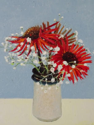Flowers in a Stoneware Pot