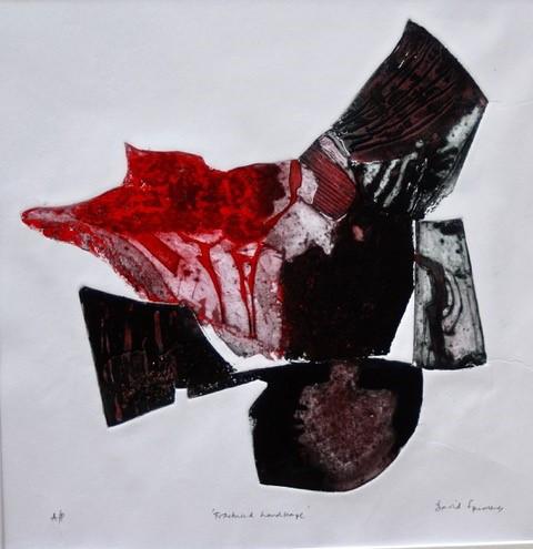 David Spurrier RBSA, 'Fractured Landscape', Collograph, £195