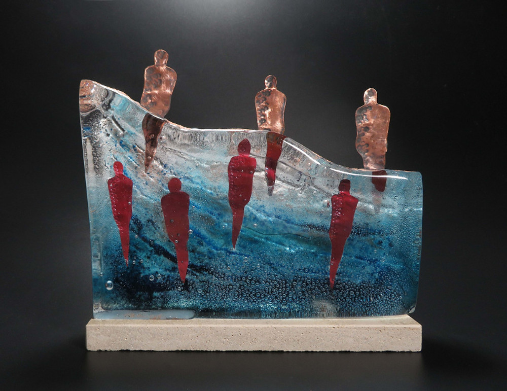 Teresa Chlapowski Floating Up sand cast glass