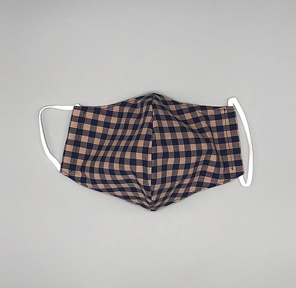 Face Covering - Cream Gingham