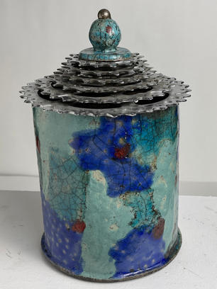 Blue Cycle Pot