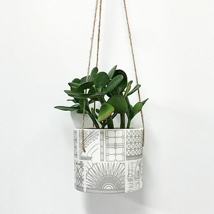 Large Architecture Hanging Planter Pot