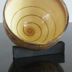 Bowl with Spiral Decoration, SOLD