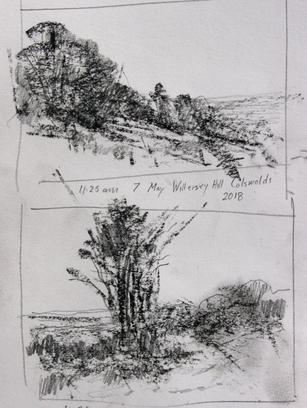 Willersey Hill Cotswolds, Compositional Studies.