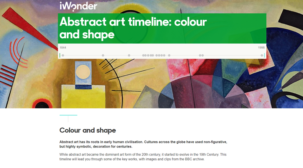 Check out the BBC's Abstract Art Timeline at http://www.bbc.co.uk/timelines/zp7bgk7#zgv2mp3