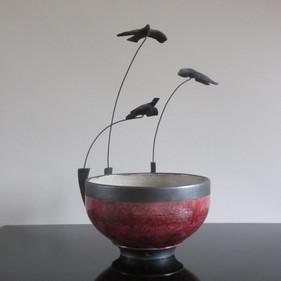 Three Flying Birds Bowl