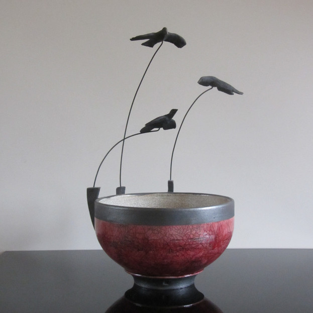 Three Flying Birds Bowl
