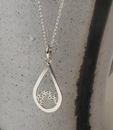 Teardrop Necklace with Granulation