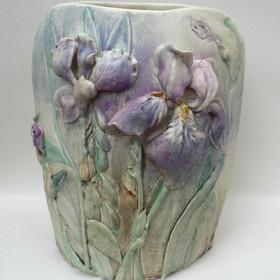 Elaine Hind RBSA, Iris Vase (Front View)