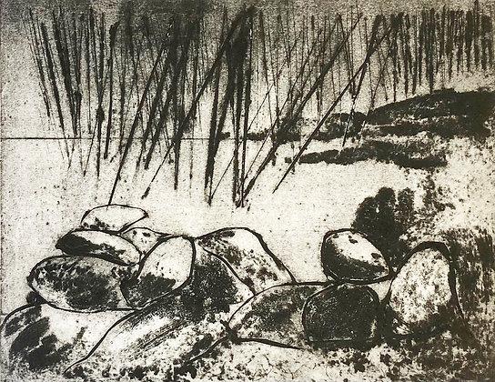 Beyond the Rocks Print, Linda Nevill
