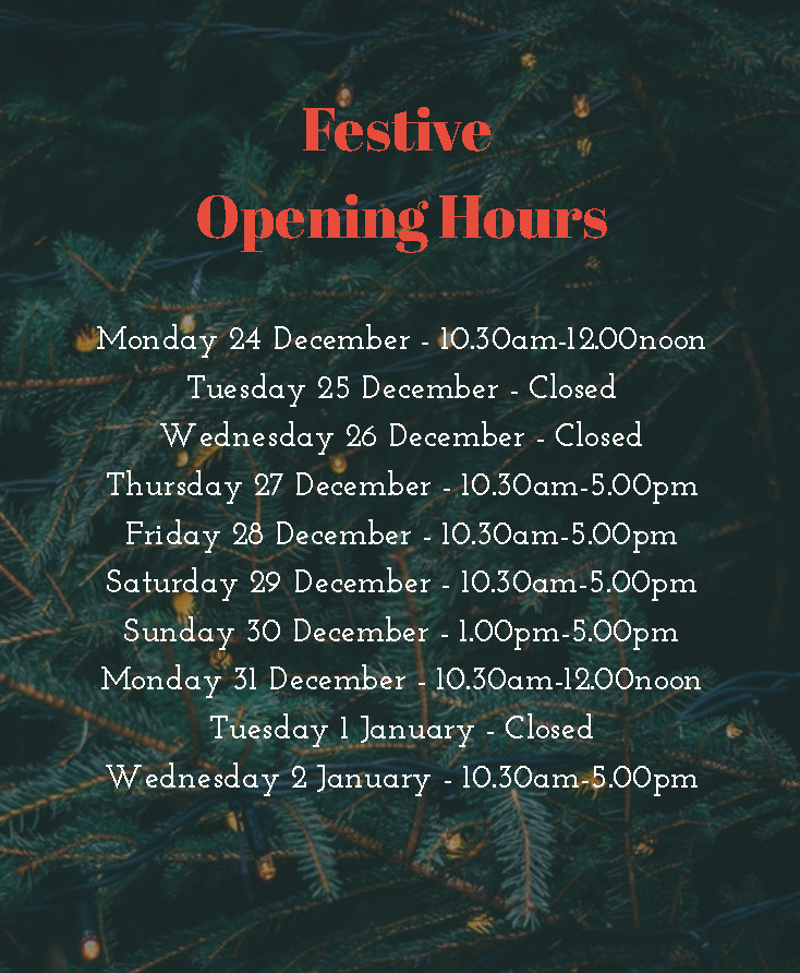 2018 Opening Hours