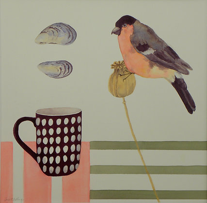Bull Finch, Mug and Mussel Card