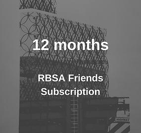 RBSA Friends Membership 12 Months