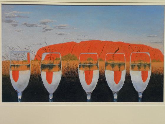 Waiting for Sundown at Uluru Card