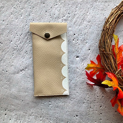 Recycled Leather Glasses Case - Gold