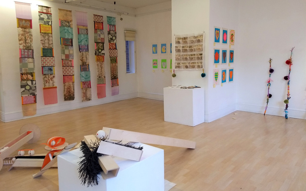 Images from the Making Together exhibition at the RBSA Gallery in Birmingham, a multi-sensory exhibition featuring work by disabled people. Picture credit Annette Pugh