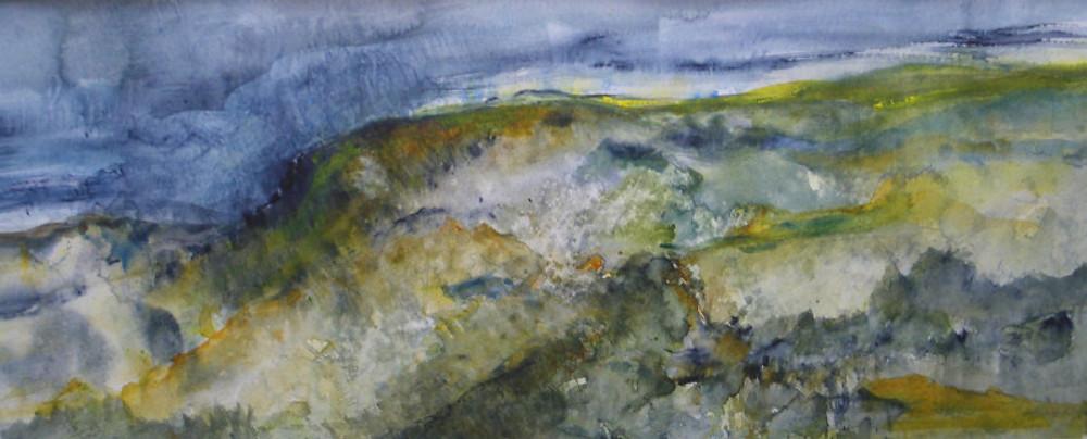 Mathe Shepheard, 'Rainstorm over Brigsteer Estuary'