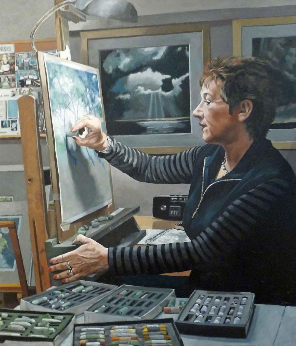 Shakespeare-John-Lynda Kettle, Pastel Artist-Oil-610X710mm