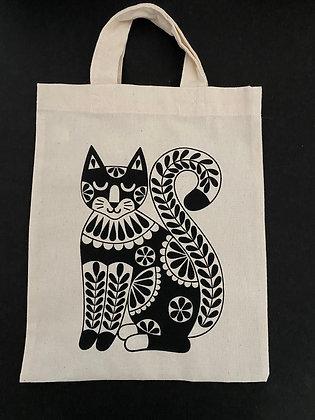 Small Black Cat Tote bag